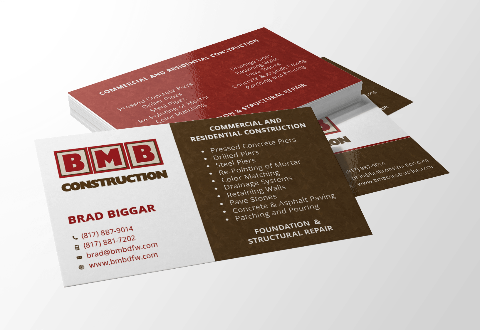 Business Card Design Website Design Flower Mound Logo