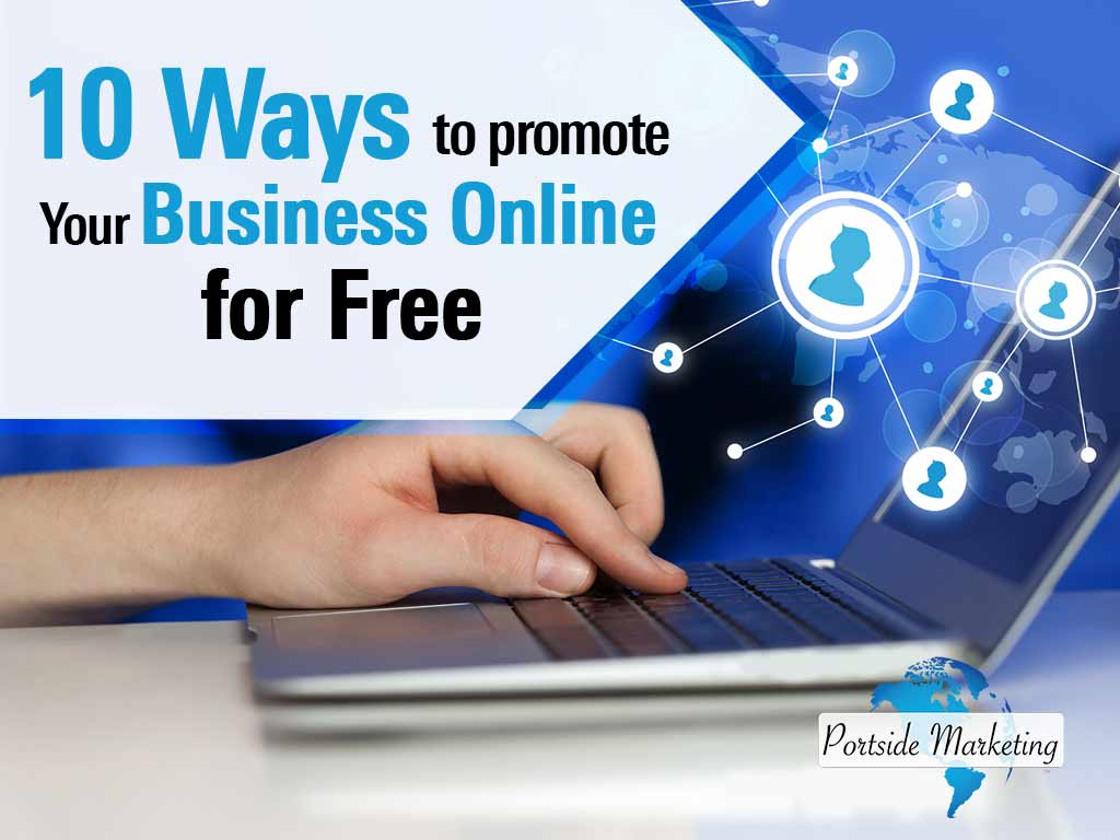 A business owner trying to promote their business online for free.