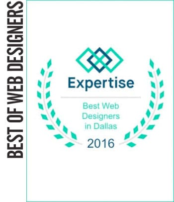 2016 Best Web Designers in Dallas #1 out of 138 Local Designers