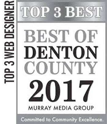 2017 Top 3 Best of Denton County – Best Web Designer