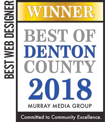 2018 WINNER Best of Denton County – Web Designer