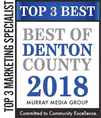 2018 Top 3 Best of Denton County – Best Marketing Specialist