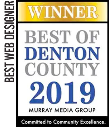 2019 WINNER Best Web Designer – Best of Denton County