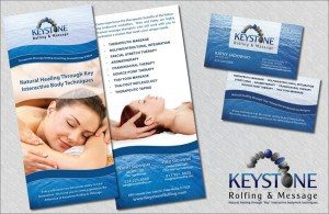 Print Marketing – Rack Cards & Business Cards – Keystone Massage Therapy