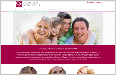 Crossroads Dental Web Design