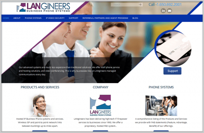 Langineers Business Website Design