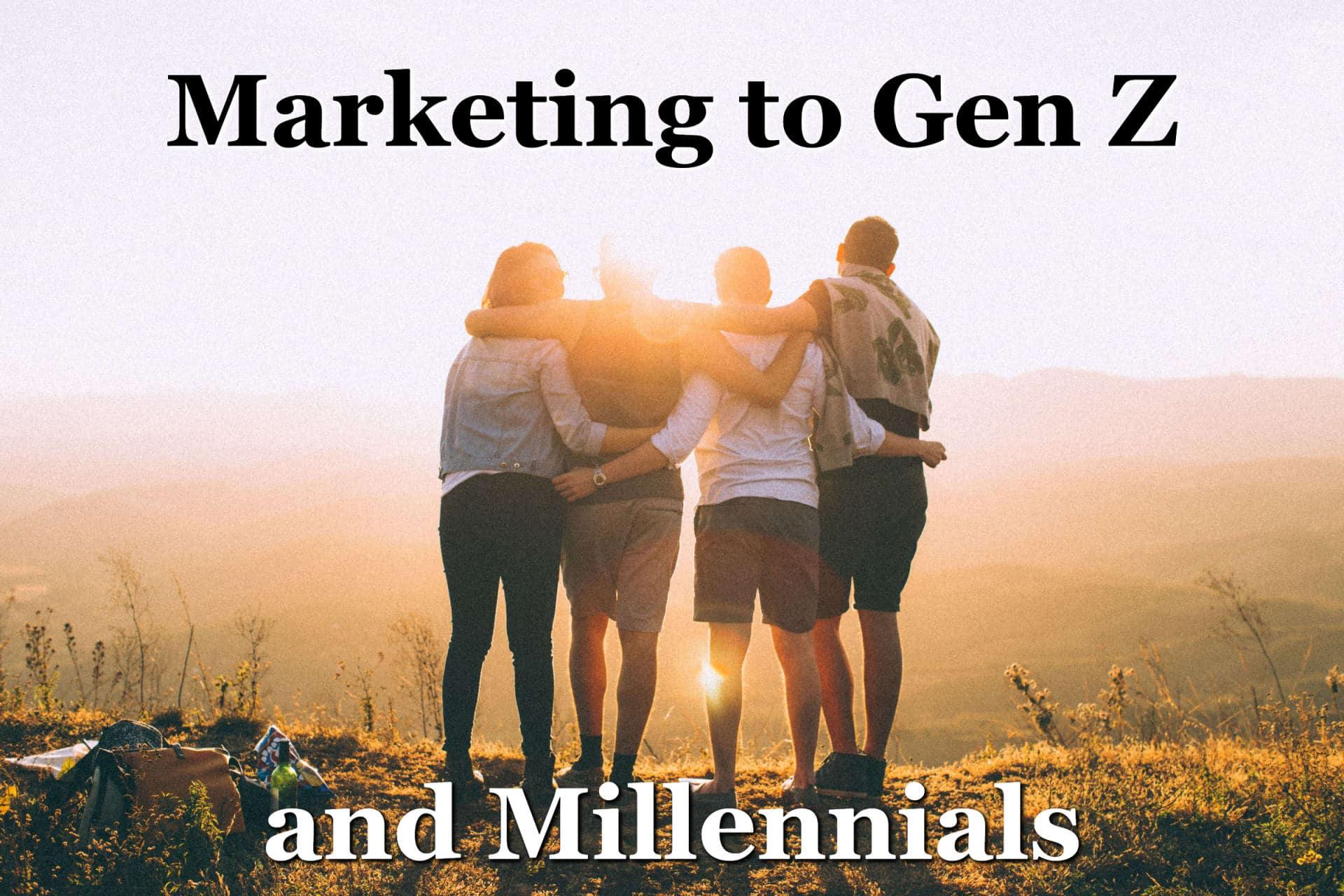 A group of Gen Z and Millennials