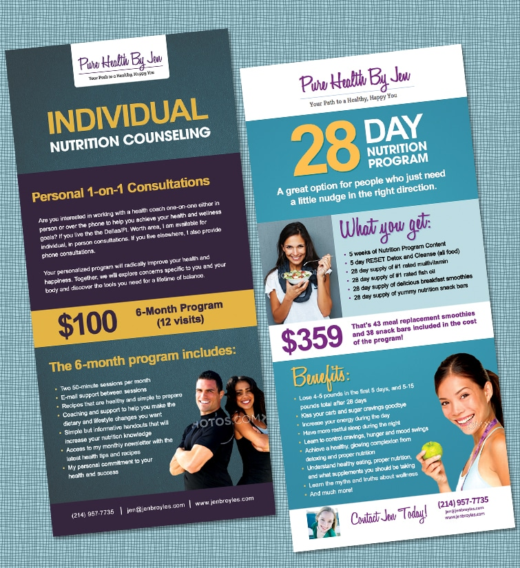 Rack Cards - Pure Health - Design & Printing