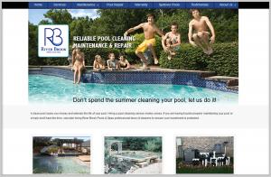 Riverbrook Pools Website Design for Business