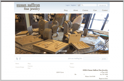 Saffron Jewelry Ecommerce Website Design