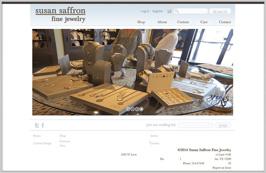 Saffron Jewelry Ecommerce Website Design
