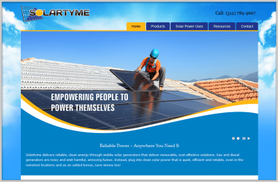 Solartyme Business Website Design