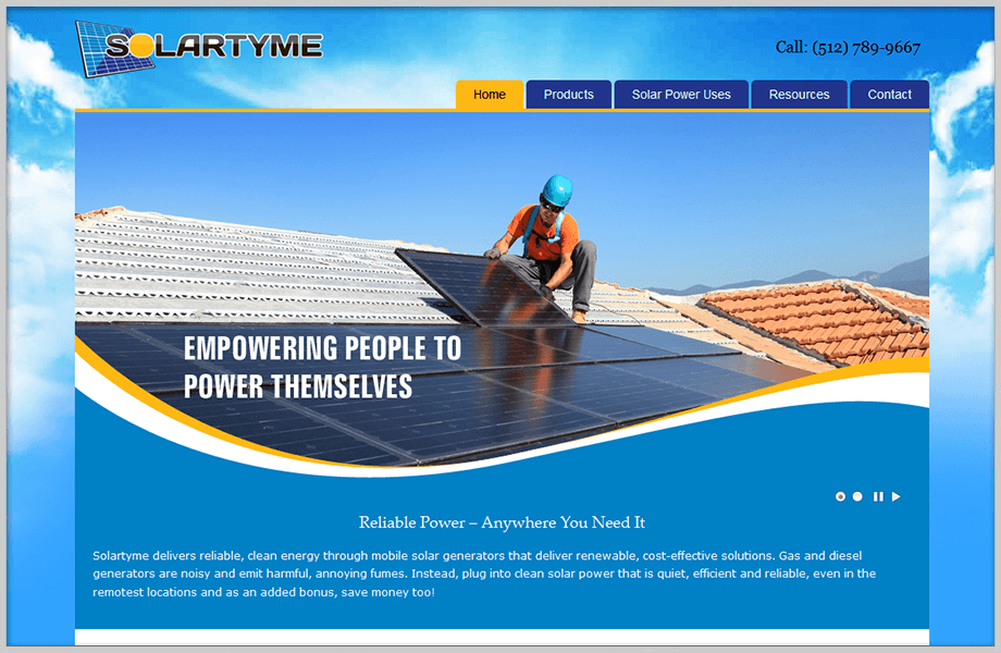 Solartyme Business Website Design