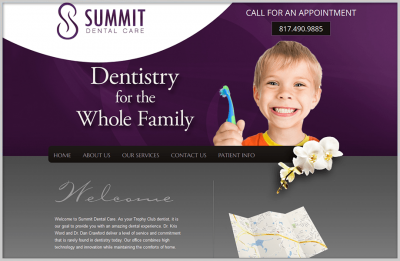 Dental Website Design Trophy Club Texas