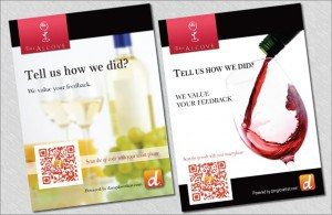 Print Marketing – Table Tents – The Alcove