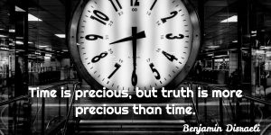 Time is Precious Quote - Quote of the Day - image of clock