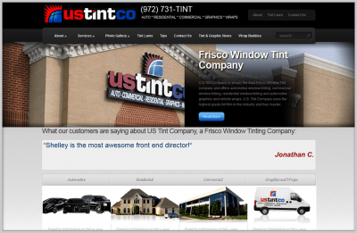 US Tint Website Design