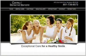 Woodbury Dental Center Dental Website Design
