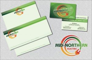 Print Marketing – Business Cards, Letterhead & Envelopes – Mid-Noerthern Electric
