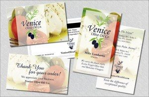 Print Marketing – Business Cards, Gift Cards & Thank You Cards – Venice Olive Oil Co.