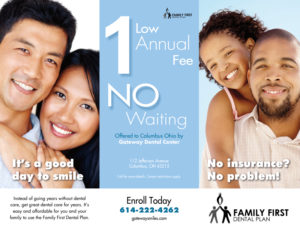 Brochure Design & Printing for Family First Dental Plan