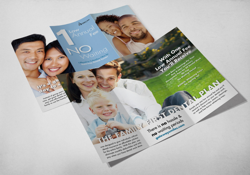 Brochure Design & Printing for Family First Dental Plan - Columbus Ohio