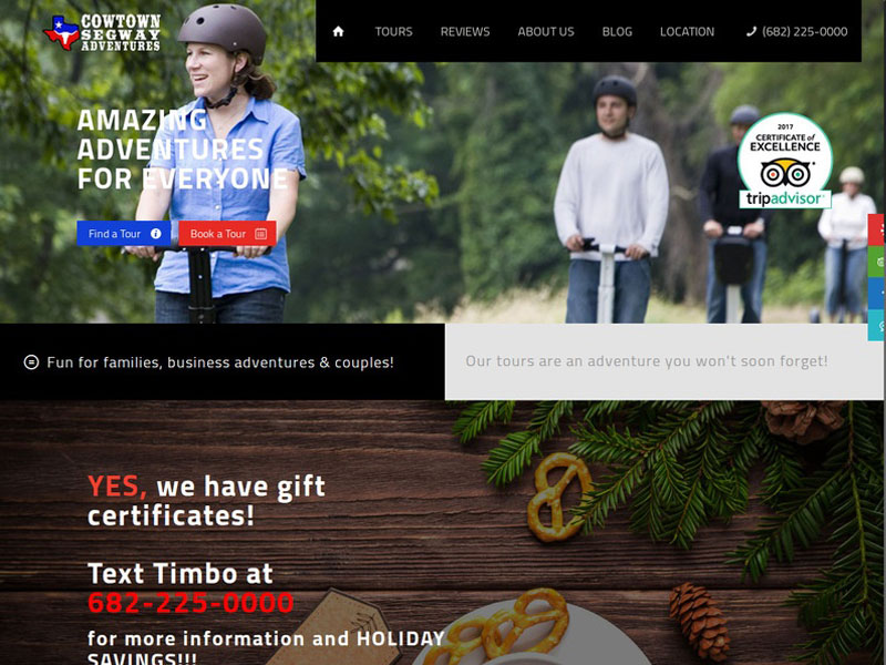 Cowtown Segway New Website Design