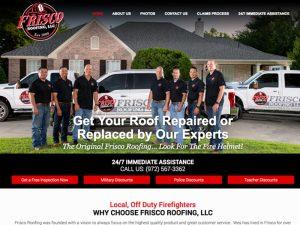 Frisco Roofing Website Design