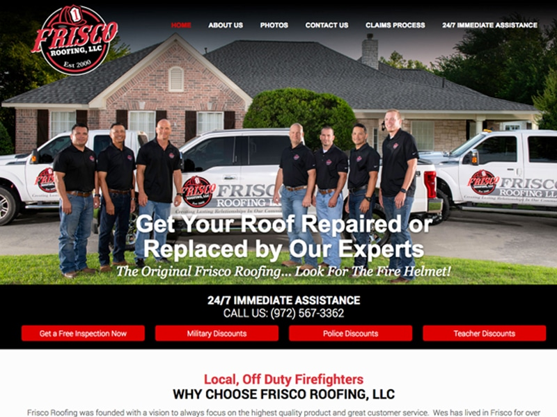 Frisco Roofing Website Design