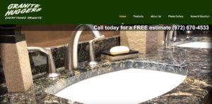 Granite Huggers Website Design Sanger