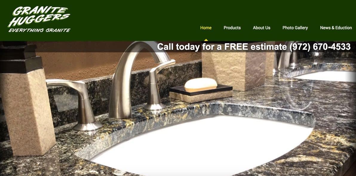 Granite Huggers Sanger Texas Web Design Sanger