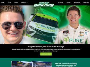 NASCAR driver websites - Gray Gaulding