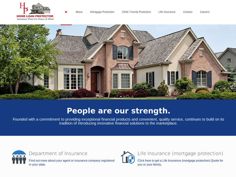 Home Loan Protector Web Design