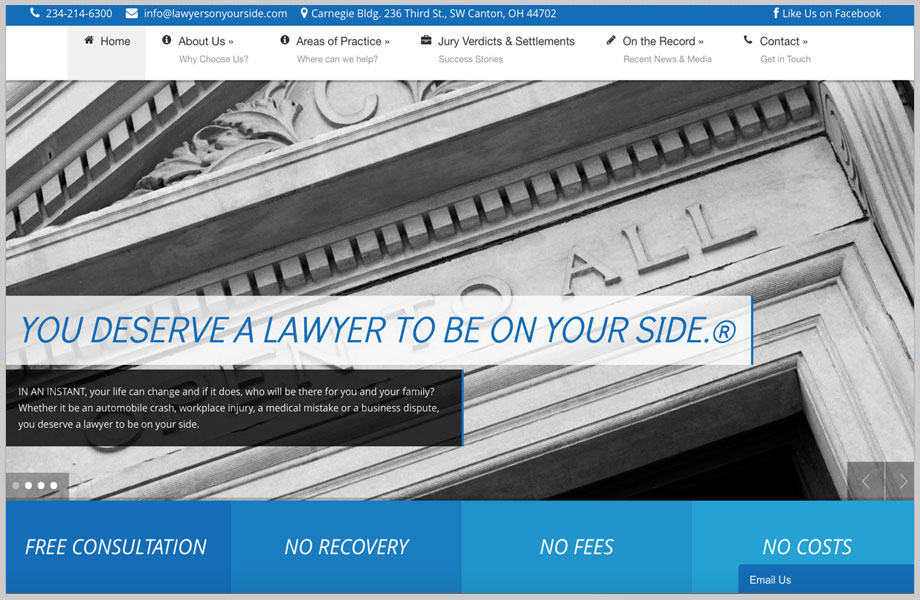 lawyersonyoursidewebsite