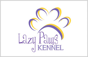 Lazy Paws Kennel Logo Design Canton Texas