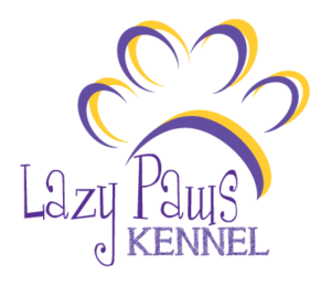 Lazy Paws Kennel Logo - Canton Texas