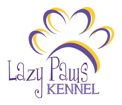 Lazy Paws Kennel Logo - Canton Texas