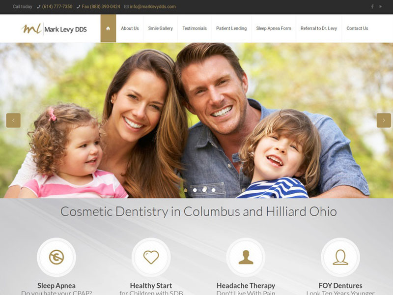 Mark Levy DDS Dental Website Design