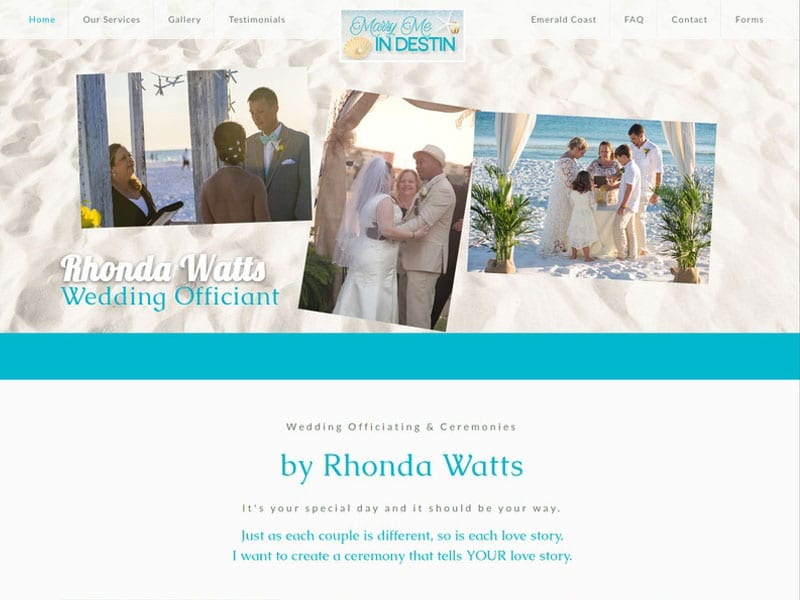 Marry Me In Destin Florida Website Design