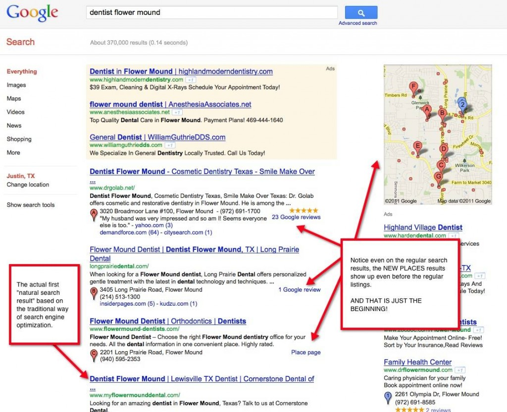 Google Maps Natural Search Rankings - Local SEO