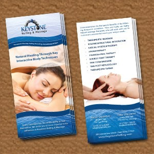 Keystone Massage Therapy Rack Cards