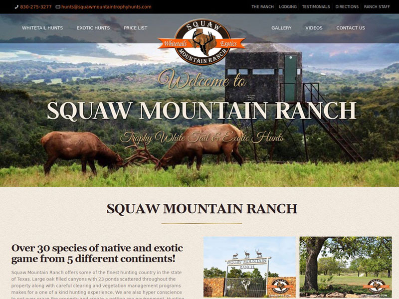 Squaw Mountain Ranch Website Design