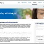 Freedom Health Centers Website Design Chiropractors