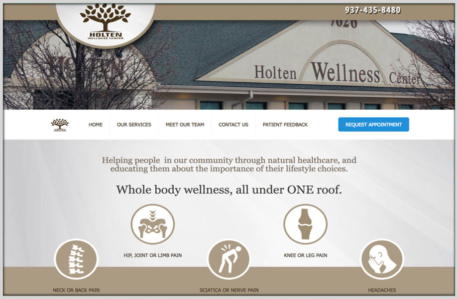 Website Design - Holten Wellness